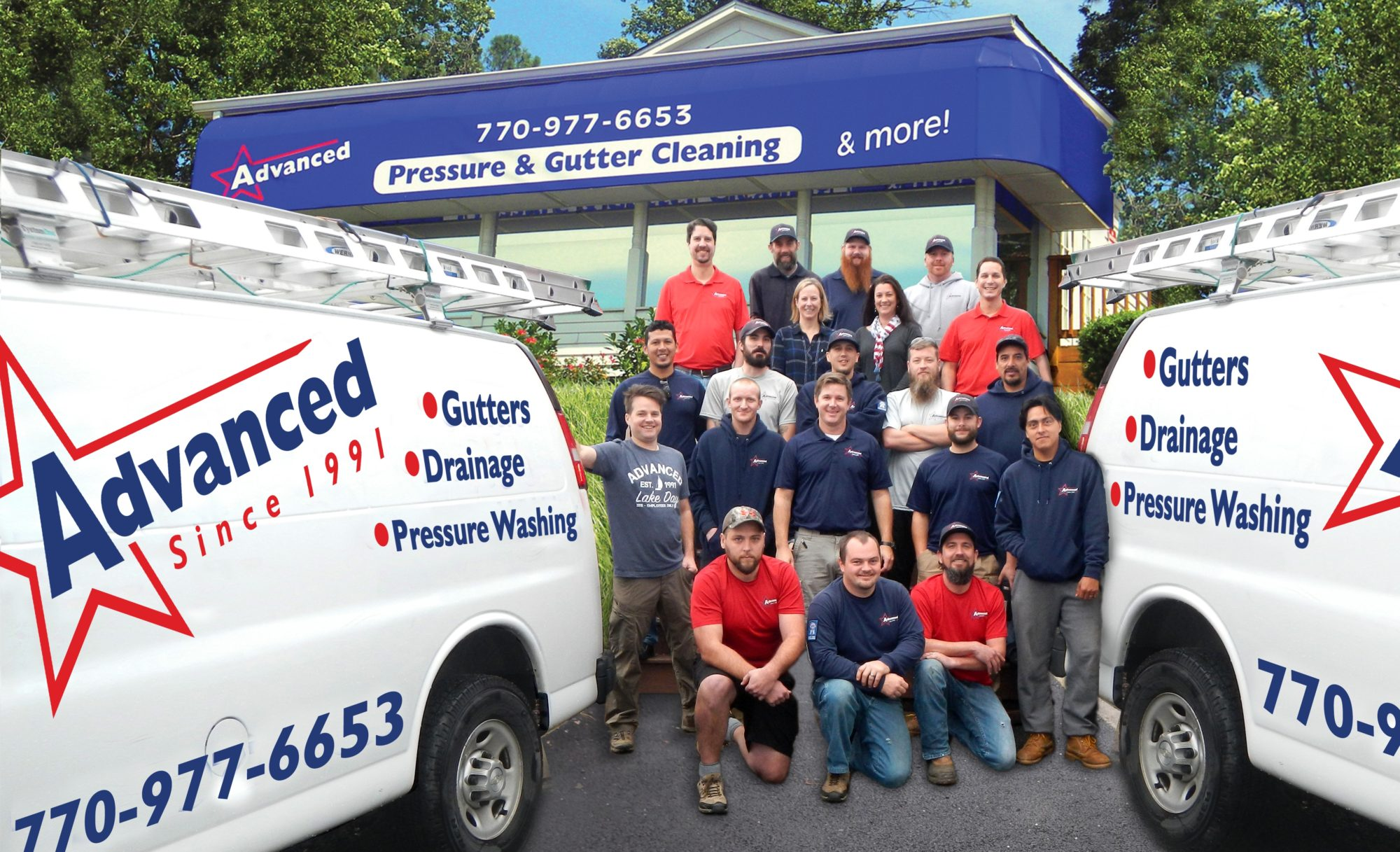 gutter cleaning staff