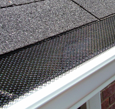 Gutter guards installed to protect from debris